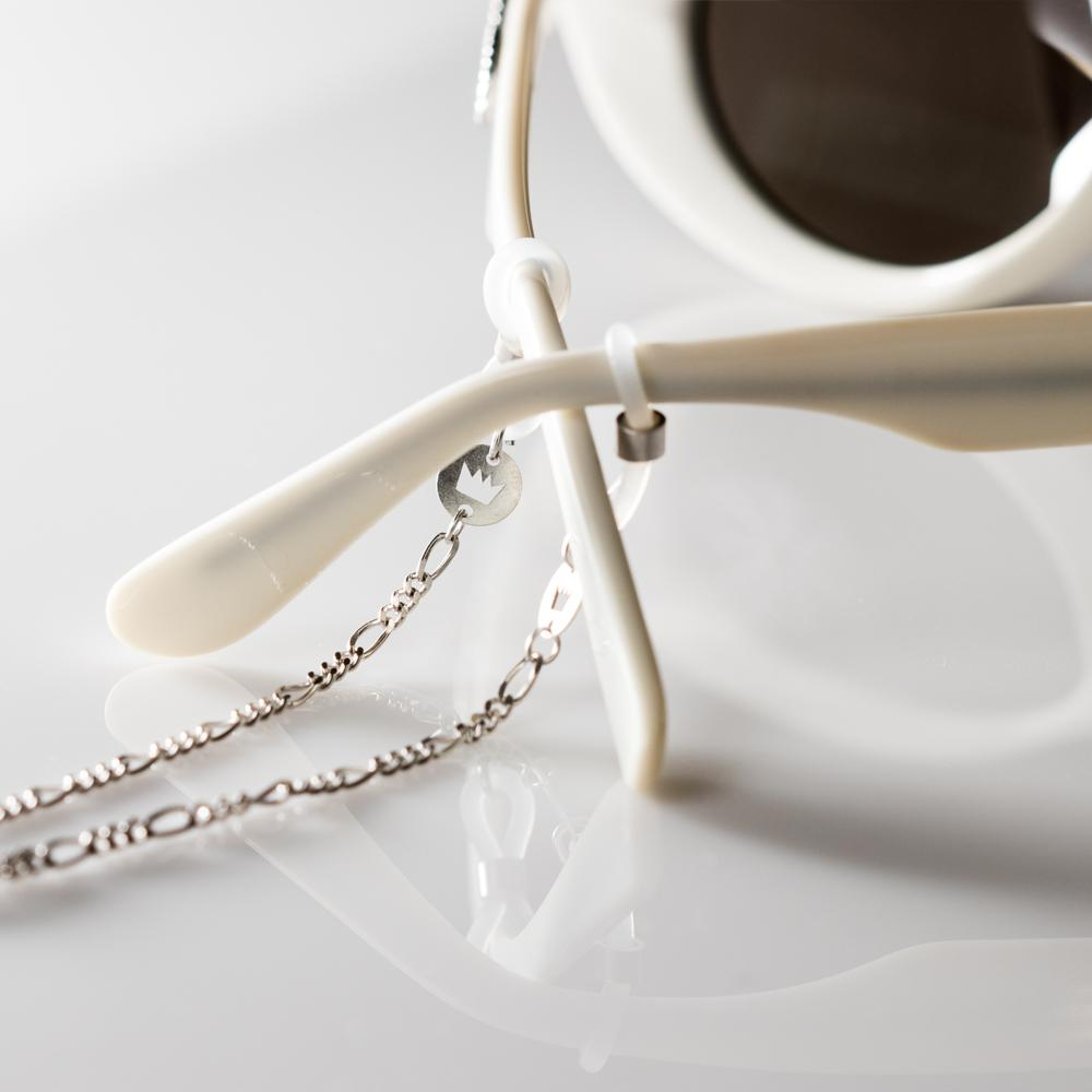 Sunkissed Marcellina glasses chain silver