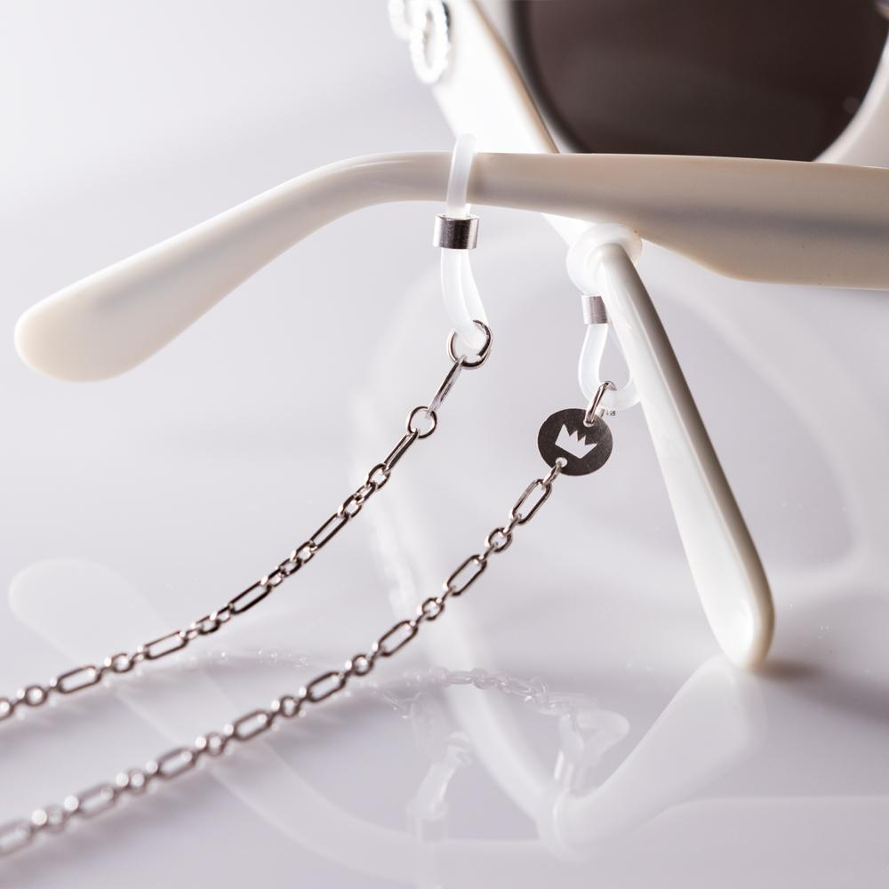 Sunkissed Cyrano glasses chain silver