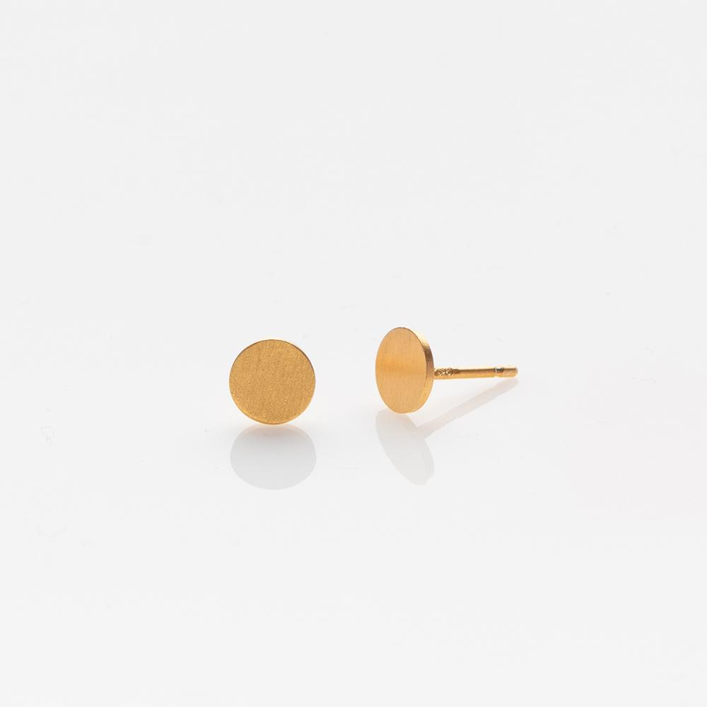 Toy circle stud earrings gold