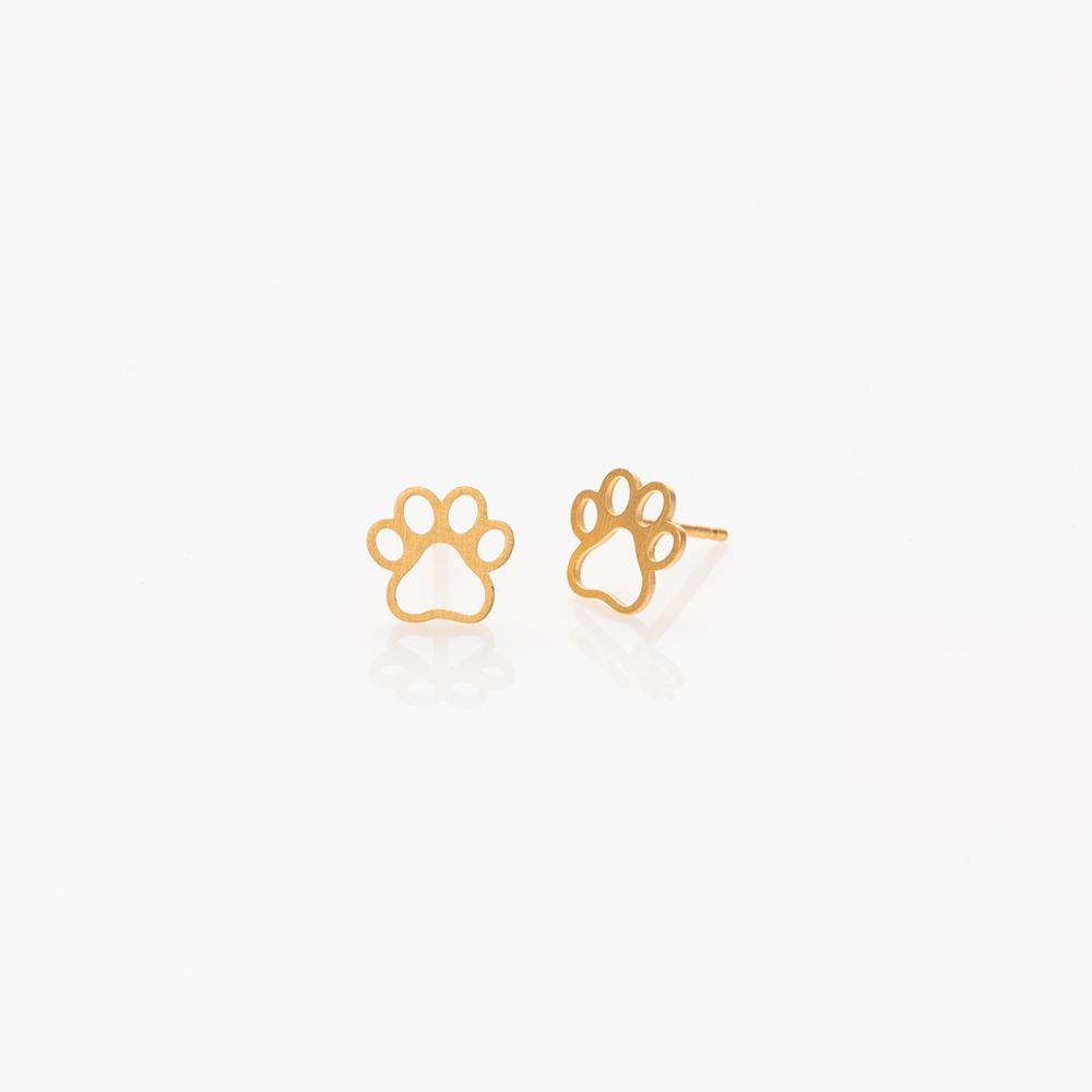 Toy paw stud earrings gold