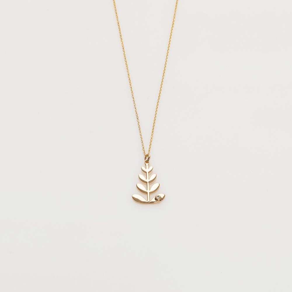Chloe necklace 14K yellow gold with diamond