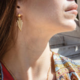 Crescendo earrings gold