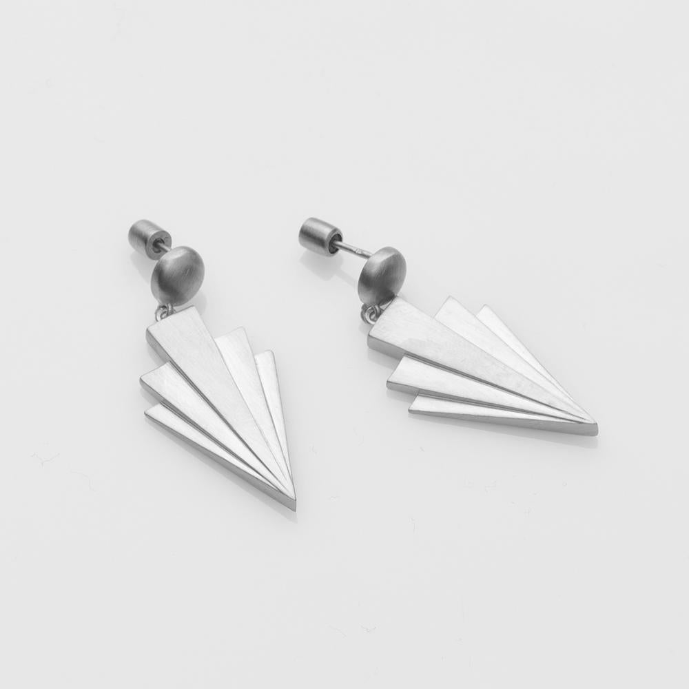 Crescendo earrings silver
