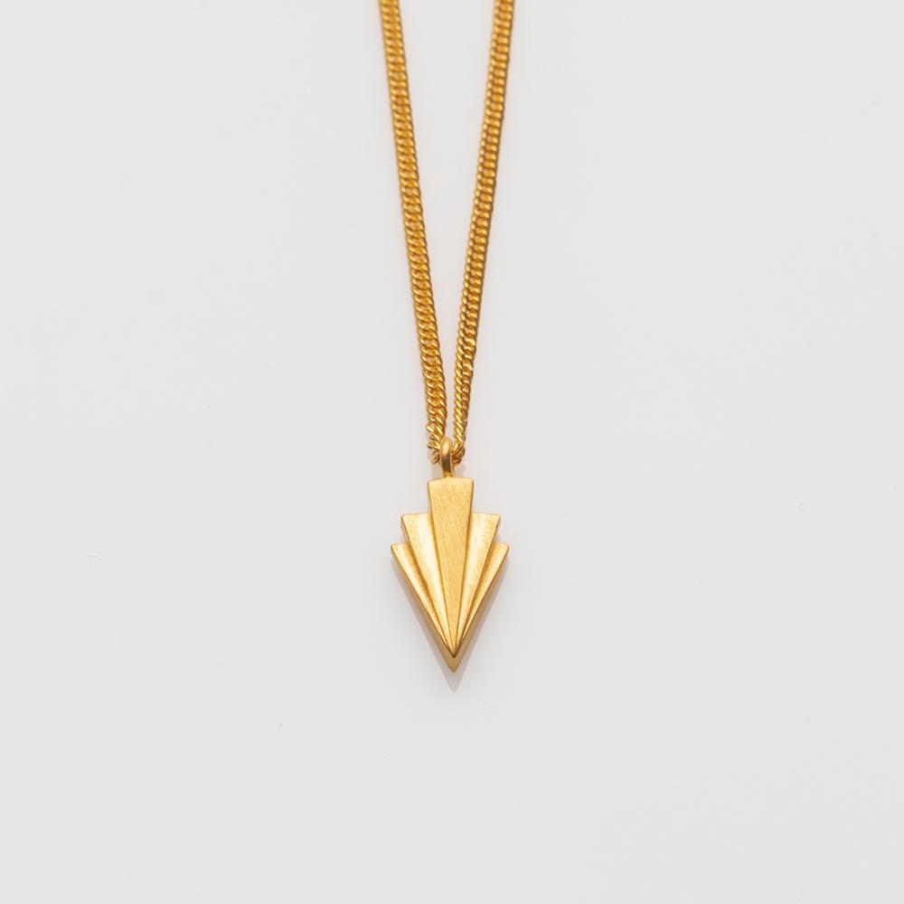 Crescendo single necklace gold