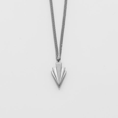 Crescendo single necklace silver