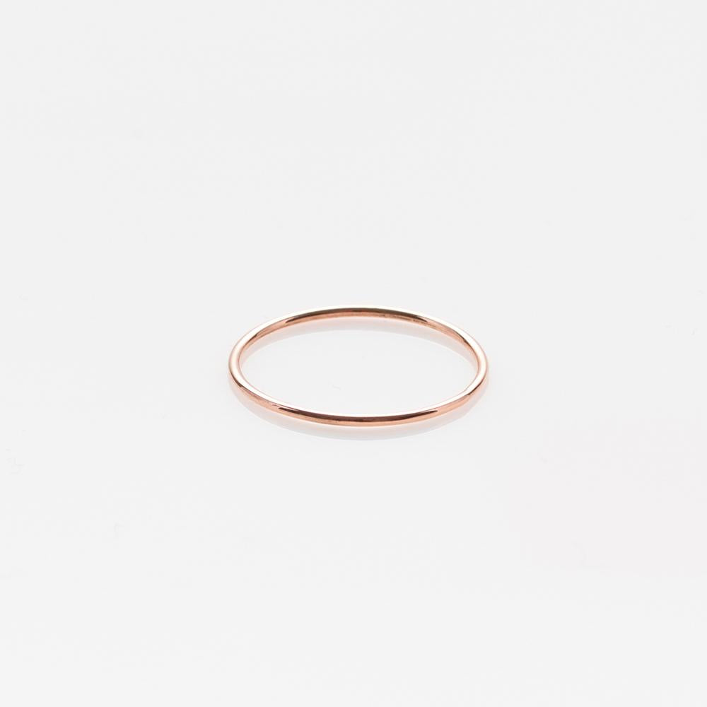 Wire band ring rose gold 14Κ
