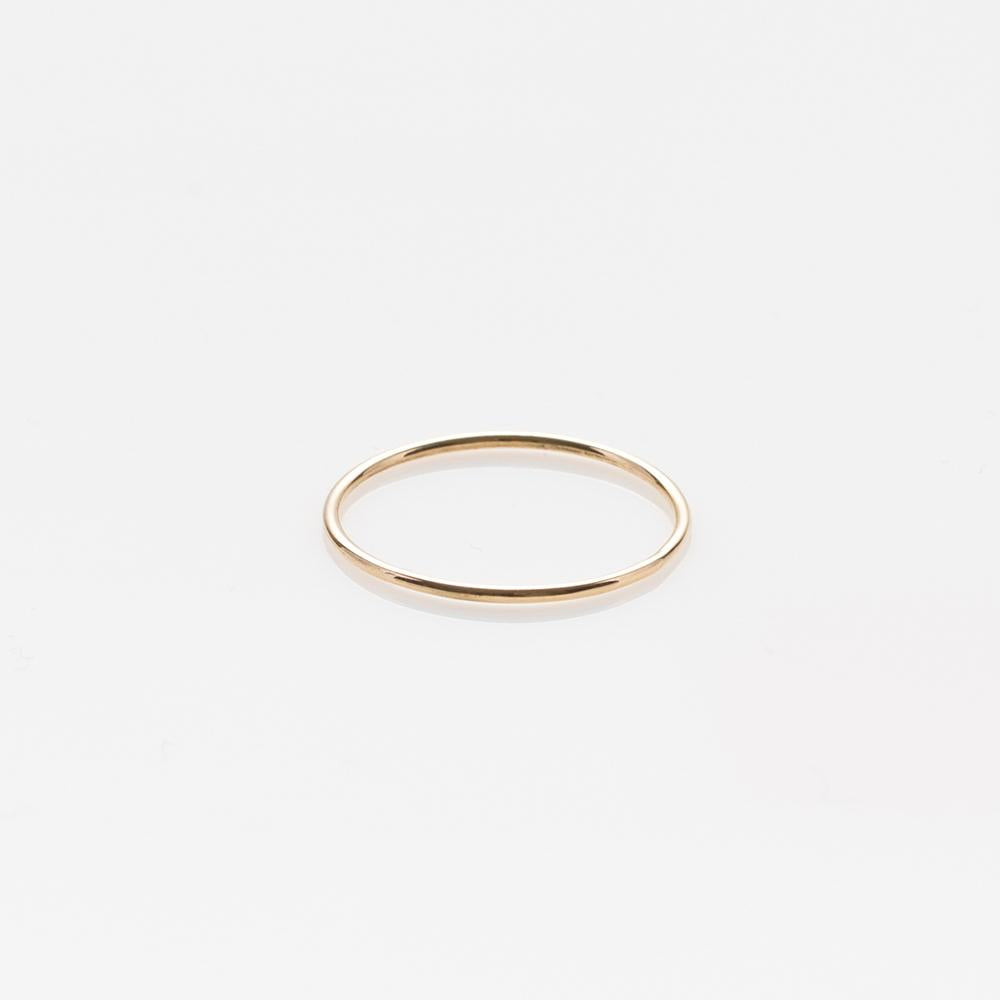 Wire band ring yellow gold 14Κ