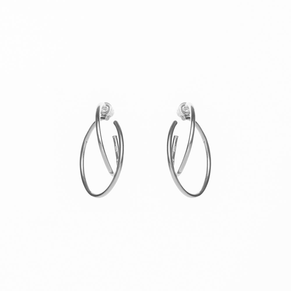 Gang double polished earrings silver