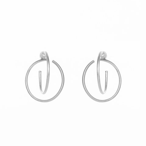 Gang double matte earrings silver