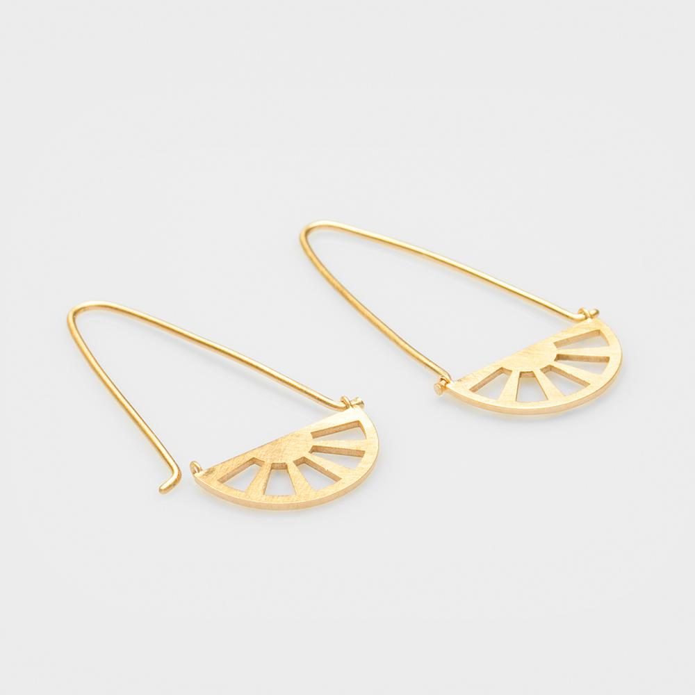 Unicorn earrings gold