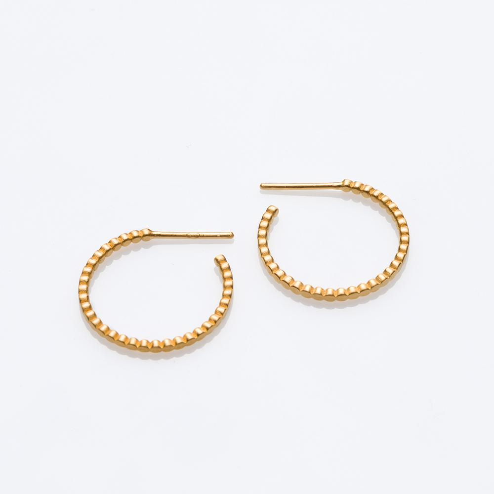Blob earrings gold