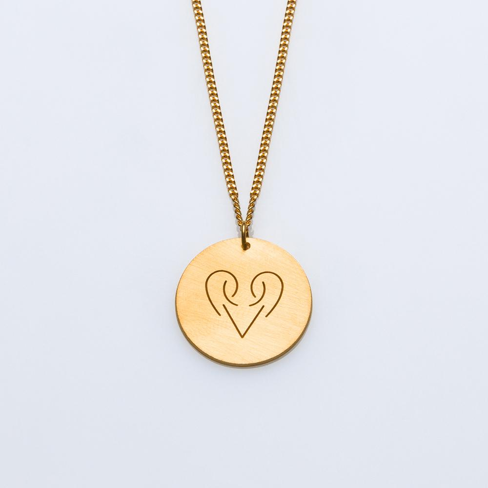 Signs necklace gold