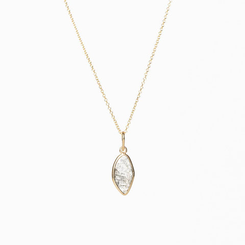 Slice necklace 18K yellow gold with diamond