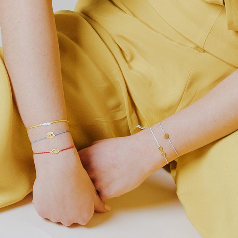 Mademoiselle thread bracelet gold