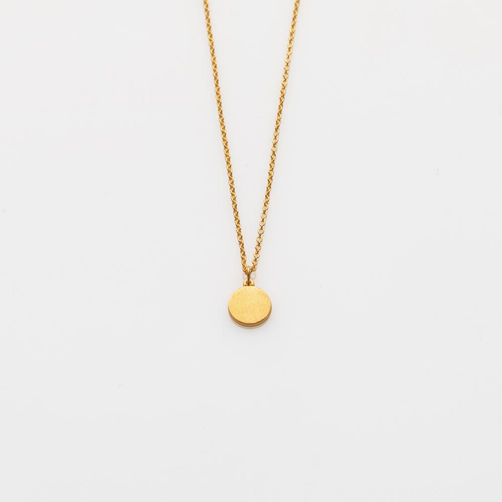 Toy circle necklace gold