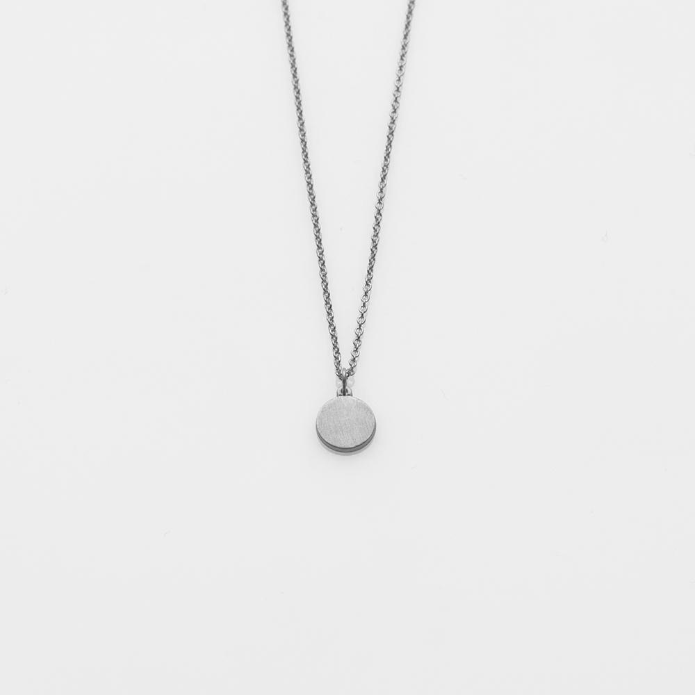 Toy full moon necklace silver