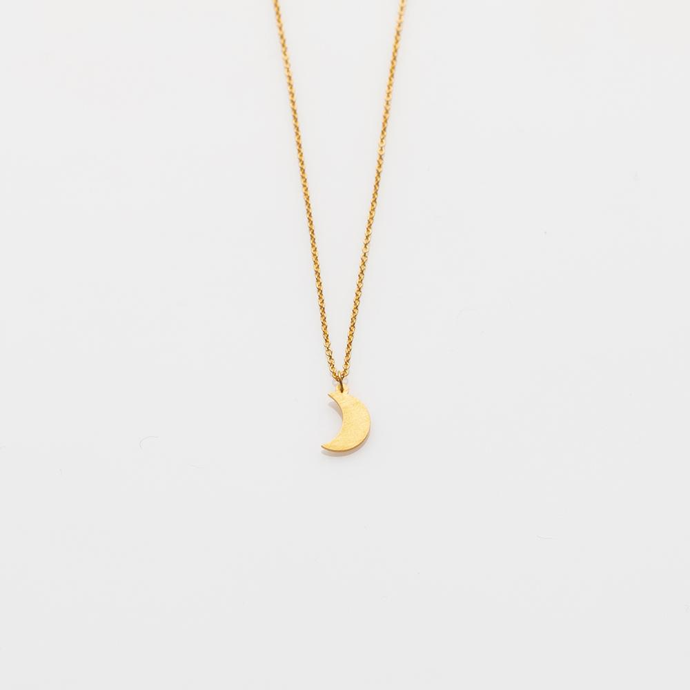 Toy crescent moon necklace gold