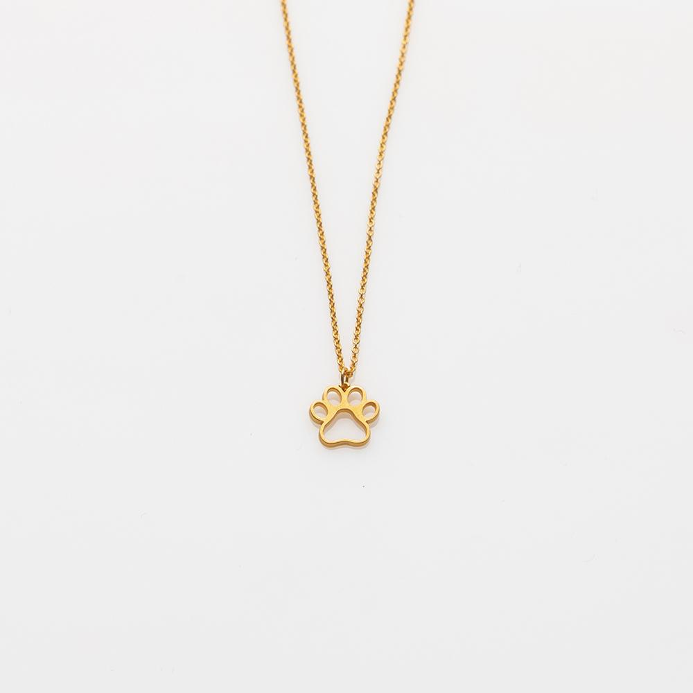 Toy paw necklace gold