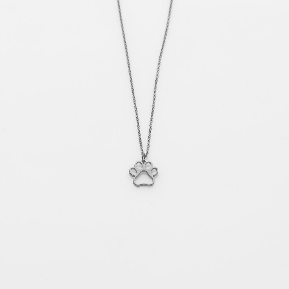 Toy paw necklace silver