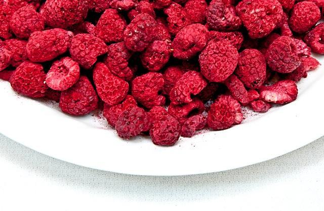 Freeze Dried Raspberries Bowl