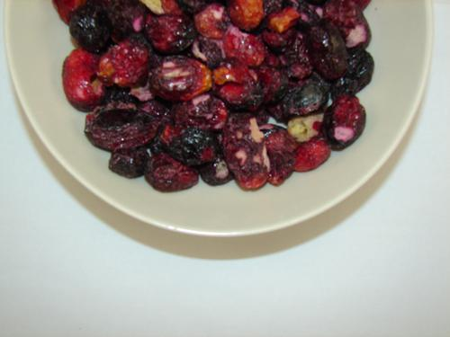 Freeze Dried Whole Red Grapes Bowl