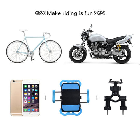 Support Téléphone Moto<br> Silicone Clips