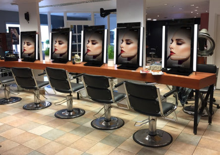 Digital menus and displays for beauty salons