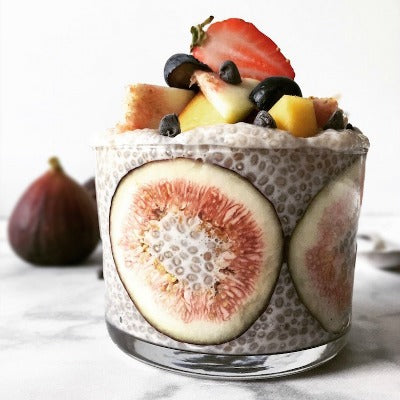 Fig Berry Chia Pudding