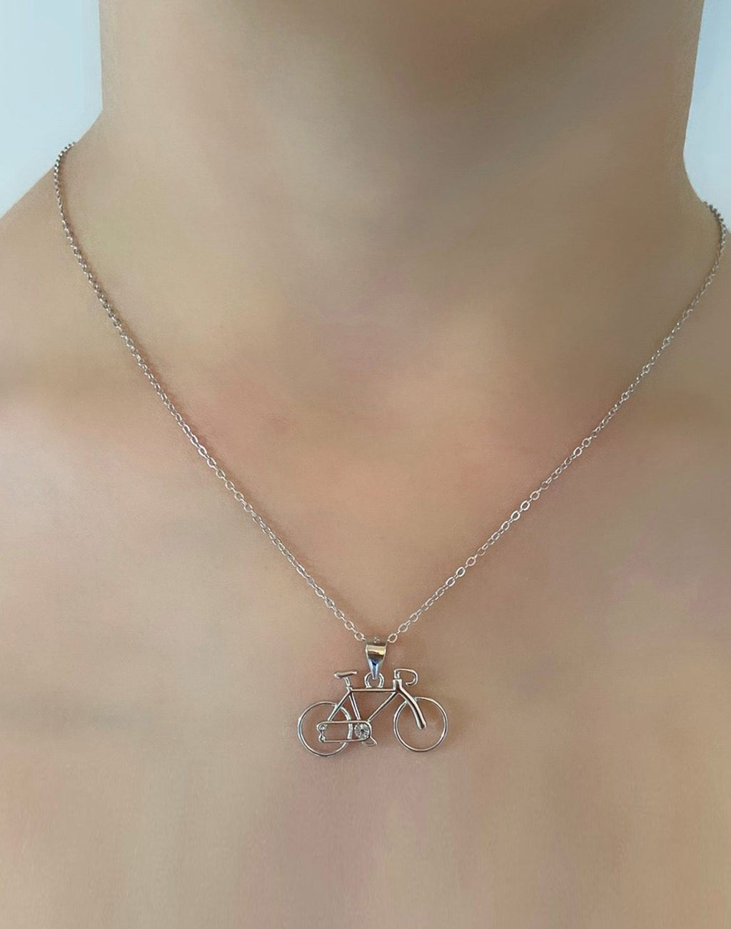 Bicycle Necklace with Pendant