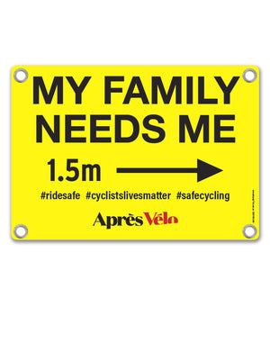 My Family Needs Me Safety Bib