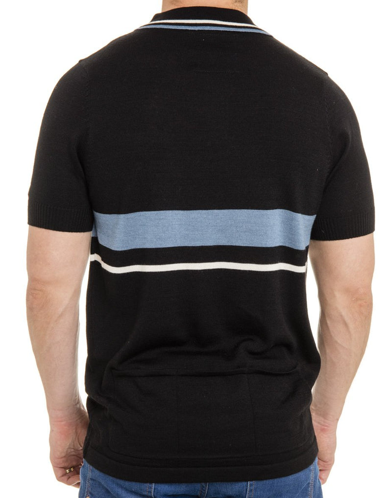 Retro Wool Knit Polo