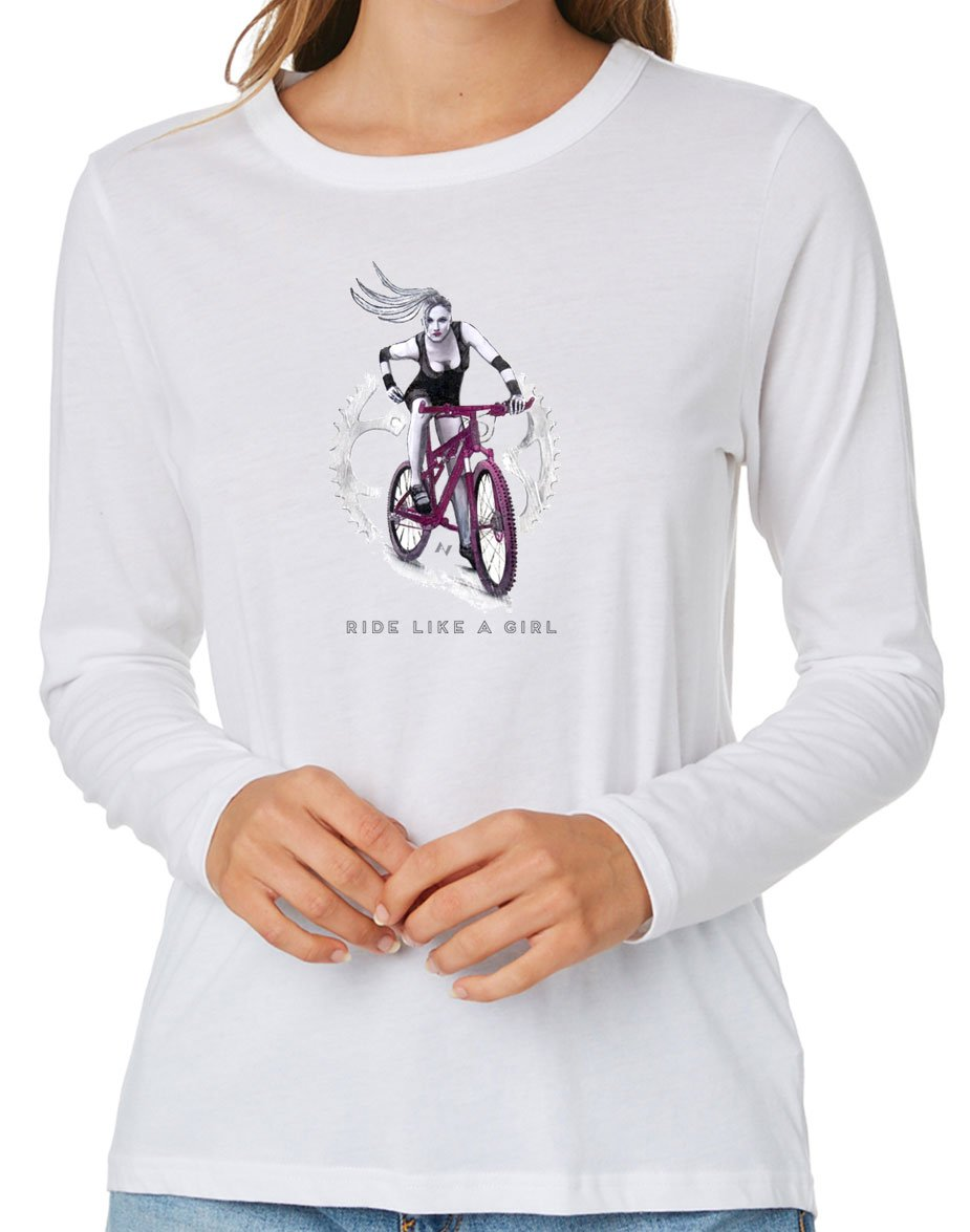 Ride Like A Girl Long SLV T-Shirt