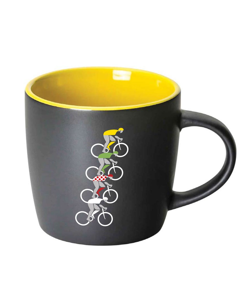 Tour de Caffeine Coffee Mug - Yellow