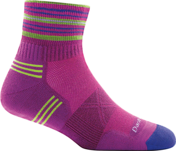 Darn Tough Womens 1017 Merino Wool 1/4 Crew Running Socks