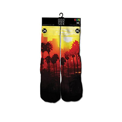 Odd Sox Kids Crew Novelty Socks, Sunset, One Size