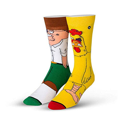 Odd Sox Unisex Crew Novelty Socks, Peter vs Chicken 360, One Size
