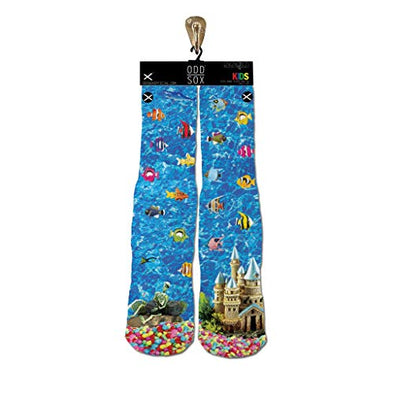 Odd Sox Kids Crew Novelty Socks, Fishies, One Size