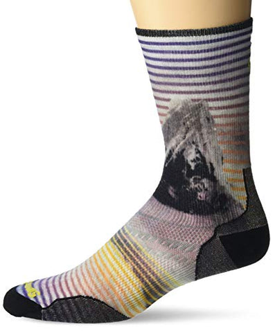 Smartwool Men's PhD Ultra Light Snow Summit Print Crew Socks