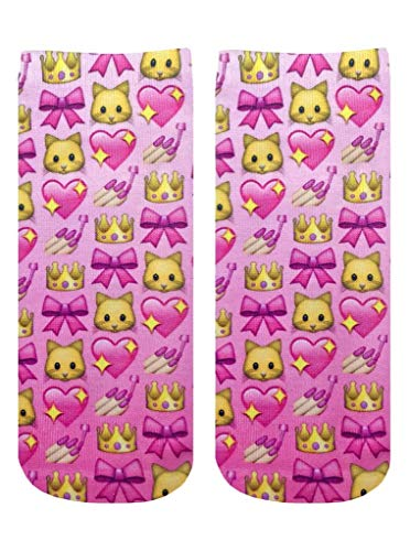 Living Royal Unisex Ankle Fashion Socks, Girly Emoji, One Size
