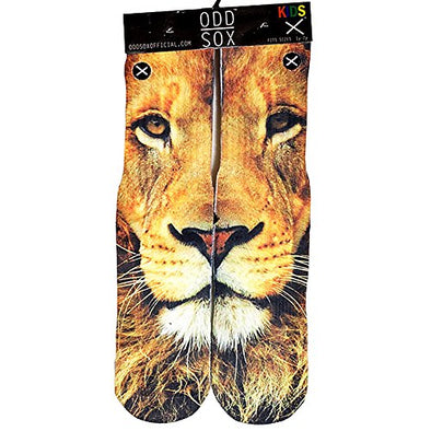 Odd Sox Kids Crew Novelty Socks, Lion, One Size