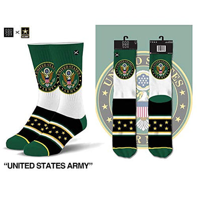 Odd Sox Unisex Crew Novelty Socks, United States Army, One Size