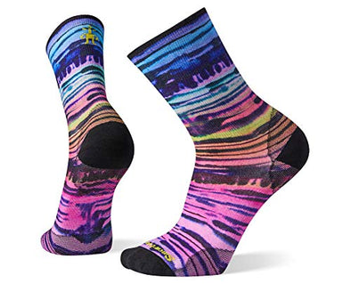 Smartwool Women's PhD Ultra Light Watercolor Stripe Print Crew Socks