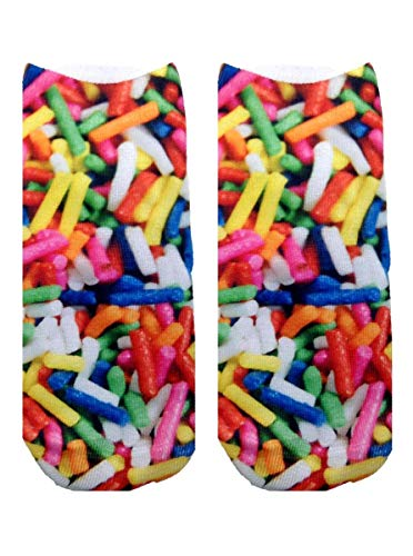 Living Royal Unisex Ankle Fashion Socks, Ice cream and Sprinkles, One Size