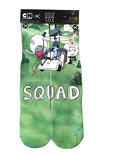 Odd Sox Kids Crew Novelty Socks, Squad, One Size