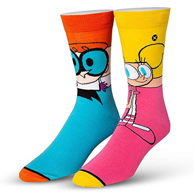 Odd Sox Unisex Crew Novelty Socks, Dexter & DeeDee 360, One Size