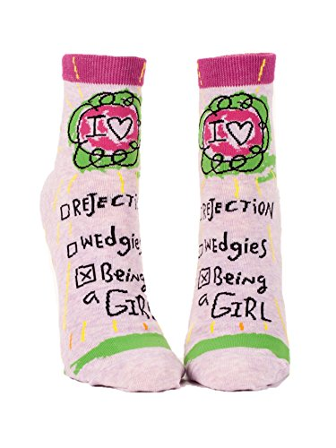 Blue Q Womens SW620 Cotton Ankle Fashion Socks, Being A Girl, One Size
