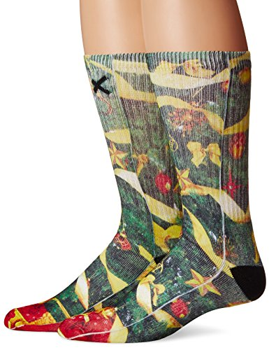 Odd Sox Unisex Crew Novelty Socks, Christmas Tree, One Size