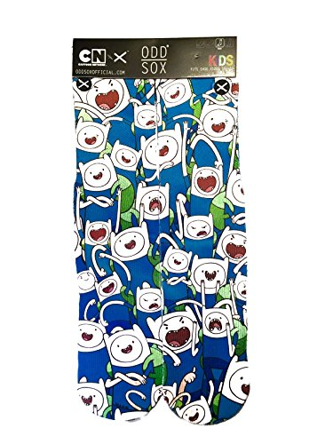 Odd Sox Kids Crew Novelty Socks, Mad Finns, One Size