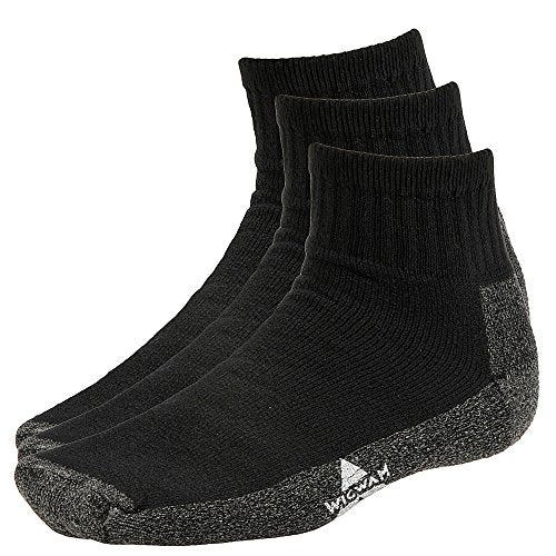 Wigwam Unisex S1360 Cotton 1/4 Crew Work Socks
