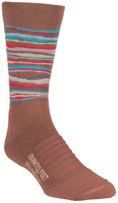 Farm 2 Feet Mens 9708 Merino Wool Crew Hiking Socks